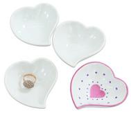 Porzellan-Herzschalen, 12 Stück