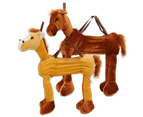 Betzold Schluepfkostuem Pferd hellbraun oder dunkelbraun