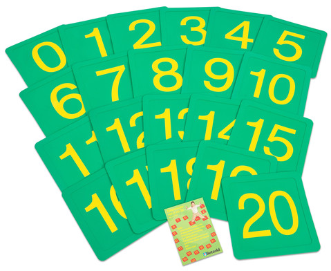 Zahlenfelder von 0 - 20