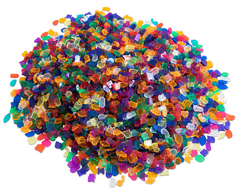Betzold Mosaiksteine Kunststoff 1 kg transparent