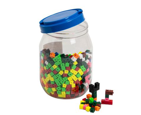 Betzold Eimer mit 1000 Steckwuerfeln in 10 Farben
