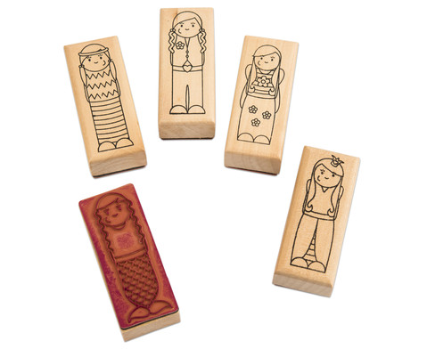 Holzstempel Maedchen oder Jungs 5-teilig-1
