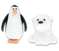 Radiergummi Eisbär und Pinguin, 2er Set