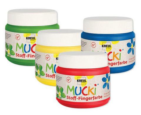 MUCKI Stoff-Fingerfarbe 4er Set-1