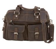 Businesstasche XL aus Büffelleder, mit Schulterriemen