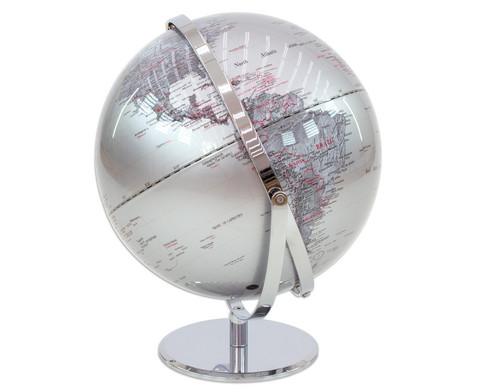Globus Juri silver Hoehe 36 cm Durchmesser 30 cm-5