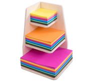 Faltpapier-Ständer, gefüllt