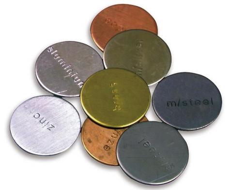 Metallplaettchen fuer magnetische Versuche-2