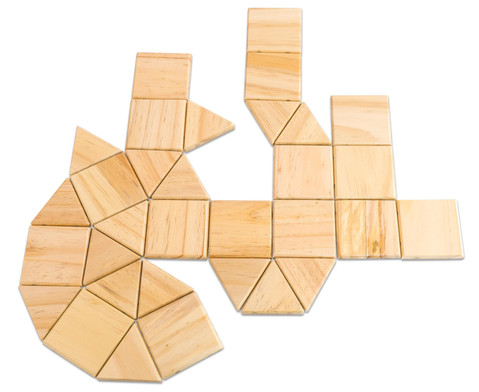 Magnetic Polydron Holz-5