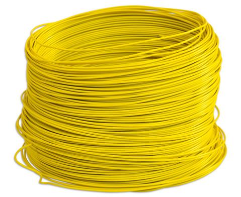 PVC-Schaltdraht Rolle mit 100 m  gelb-1