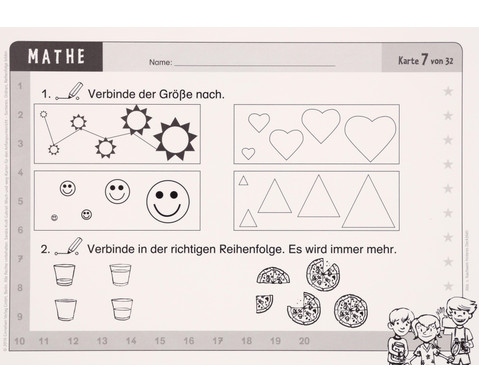 Wisch-und-weg-Karten - Mathematik-10