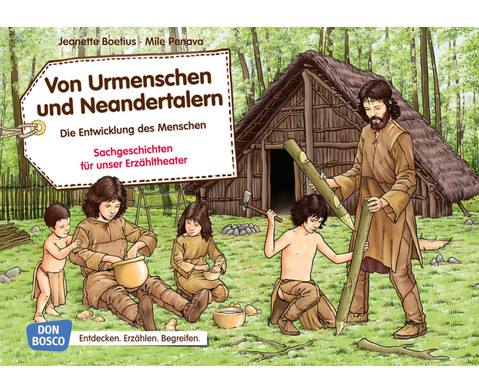 Bildkarten Von Urmenschen und Neandertalern