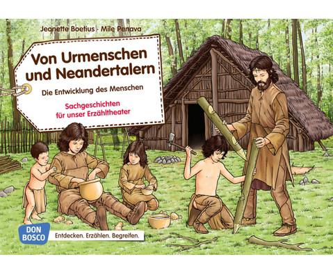 Von Urmenschen und Neandertalern Kamishibai-Bildkartenset