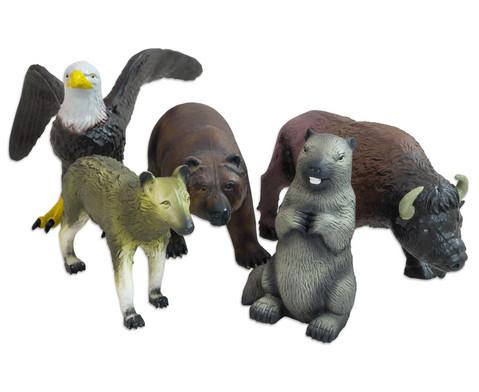 Nordamerikanisches Soft-Tier-Set Naturkautschuk