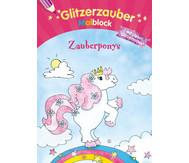 Glitzerzauber- Malblock Zauberponys