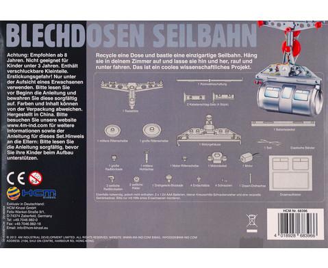 Blechdosen Seilbahn - Bausatz-2
