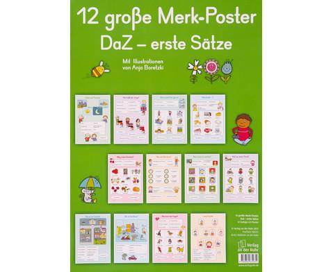 12 grosse Merk-Poster DaZ - erste Saetze-1