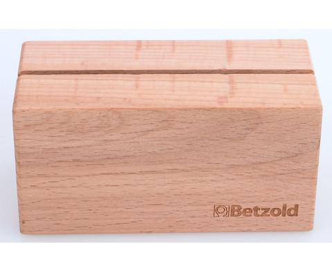 Aufsteller aus Massivholz
