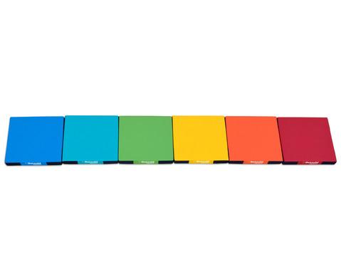 Regenbogen-Matten-Set 6 Stueck-6