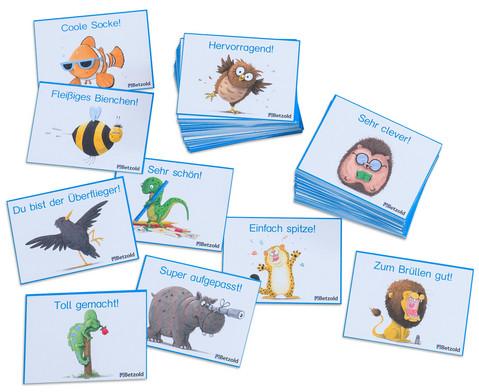 Betzold Motivationskarten Lustige Tiere 110 Stueck im Etui