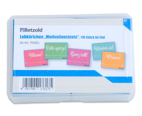 Lobkaertchen Motivationstexte 110 Stueck im Etui-2