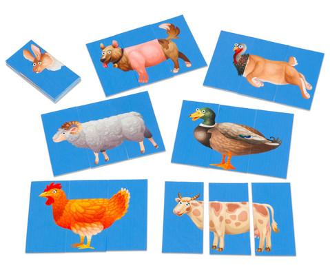 Zuordnungsspiel Bauernhoftiere-1