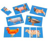 Zuordnungsspiel Bauernhoftiere