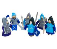 Ritter, 6er-Set, blau