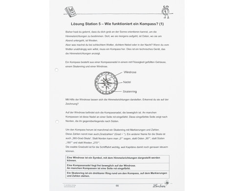 Lernwerkstatt Gut orientiert mit Kompass und Karte-9