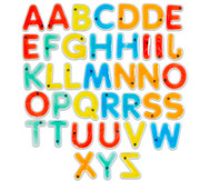 Buntes Großbuchstaben-Set für den Lichttisch