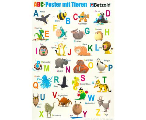 ABC Poster mit Tieren