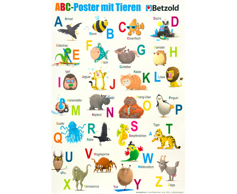 Betzold ABC-Poster mit Tieren