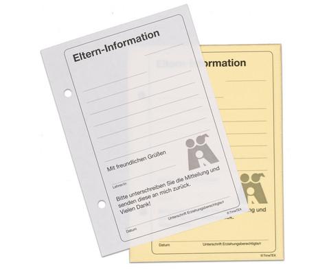 Eltern-Information Block mit 50 Blatt und Durchschlag