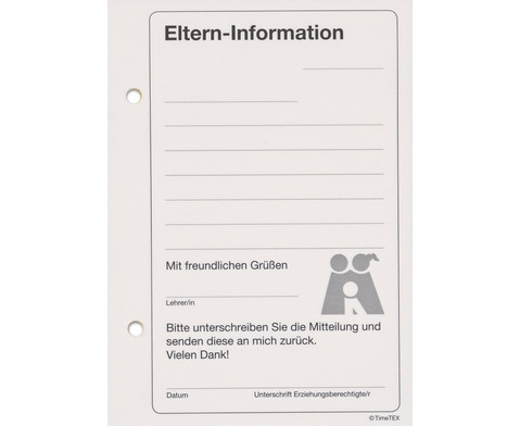 Eltern-Information Block mit 50 Blatt und Durchschlag-2