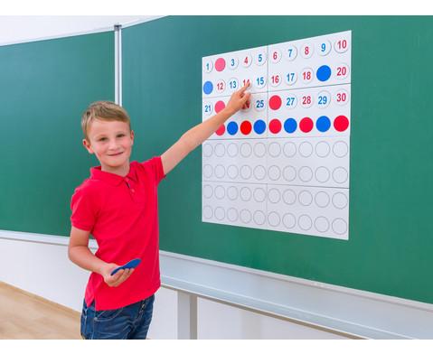 Zahlenraum 100 - magnetisches Tafelmaterial-4