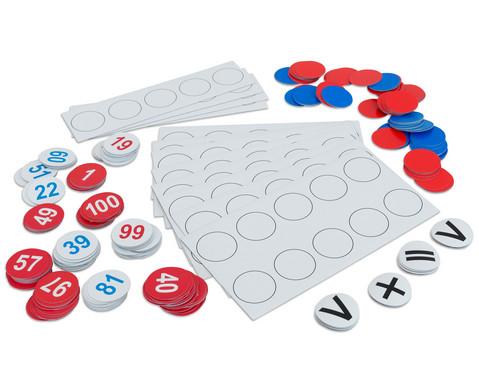 Zahlenraum bis 100 magnetisches Tafelmaterial