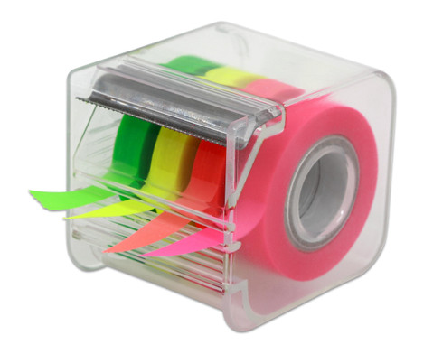 4-farb Textmarkerband im Abroller 9mm 20 m