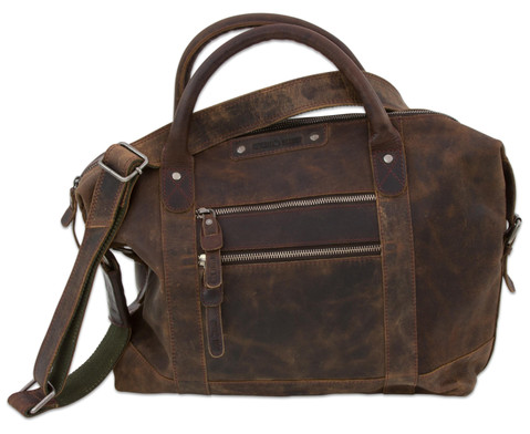 Umhaengetasche Greenburry Vintage Revival Leder antikbraun dunkel-1