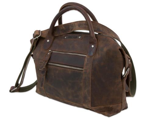 Umhaengetasche Greenburry Vintage Revival Leder antikbraun dunkel-5