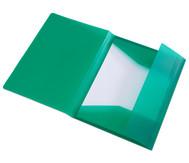 Gummizugmappe dunkelgrün, DIN A4, aus Kunststoff - Set mit 2 Stück