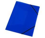 Gummizugmappe blau, DIN A4, aus Kunststoff - Set mit 2 Stück