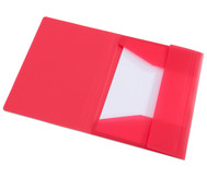 Gummizugmappe rot, DIN A4, aus Kunststoff - Set mit 2 Stück