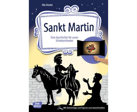 Sankt Martin Geschichte fuer das Schattentheater-1