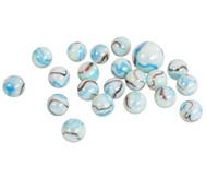 Glasmurmeln weiß getigert, 20 Stück im Netz