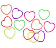 Glitter-Herzen-Armbänder, 12 Stück im Set