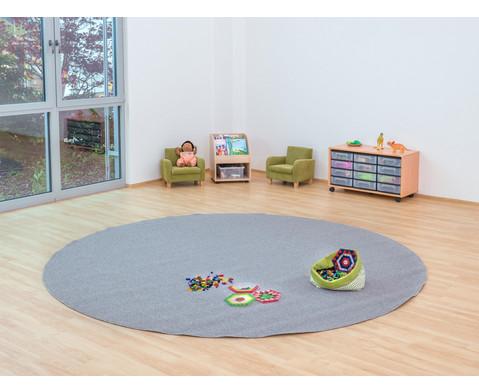 Kurzflor-Teppich rund  3m-3