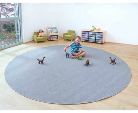 Kurzflor-Teppich rund  3m-4