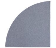 Kurzflor-Teppich, Viertelkreis 2m