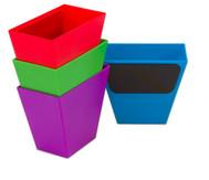Magnetische Aufbewahrungsboxen, Set mit 4 Stück, bunt