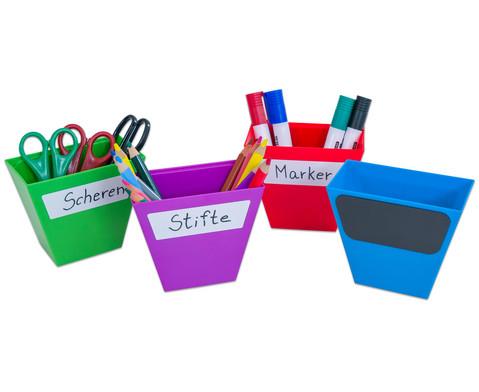 Magnetische Aufbewahrungsboxen Set mit 4 Stueck bunt-2